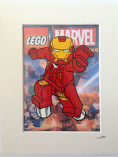 Lego - The Avengers - Marvel Comics - Iron Man - Hand Drawn & Hand Painted Cel