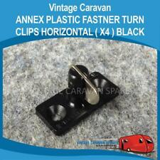 Caravan ANNEX PLASTIC FASTNER TURN CLIPS HORIZONTAL  ( 4 Pack BLACK ) A0129