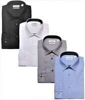Calvin Klein Tone on Tone Stripe Slim Fit Mens Cotton Dress Shirt 33T0476