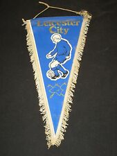 fanion wimpel pennant XXL LEICESTER CITY  ENGLAND ANGLETERRE ancien old