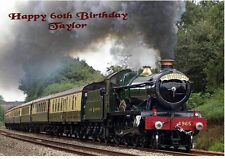 Vintage Steam Train Birthday Card Personalised A5 Grandson Dad Son Brother Uncle