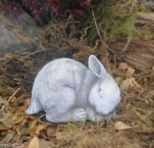 Latex only tiny curled bunny rabbit mold plaster concrete casting garden mould