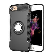 For iPhone 5 6 7 Plus Case Skin Cover Luxury With 360° Finger Ring Stand Holder
