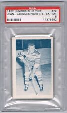 1952 Juniors Blue Tint Hockey Card Quebec Citadels Jean-Jacques Pichette PSA 6