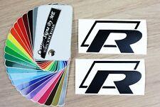 2x R-Line Car Mirror Stickers Vinyl Decals Adhesive VW Window Bumper Tailgate BL