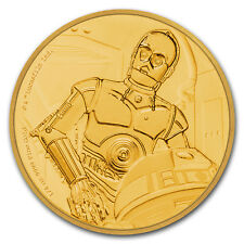 2017 Niue 1/4 oz Gold $25 Star Wars C-3PO Proof (Box & COA) - SKU#153002