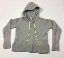 Women's Autumn Cashmere Grey Honeycomb Stitch Hoodie Pullover Small EUC Nice
