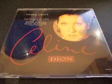 CELINE DION THINK TWICE CD SINGLE POWER OF LOVE 3 TRACKS RARE CD FREE POSTAGE