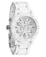 Nixon 42-20 CHRONO All White Silver Wristwatch A037 1255 Discounted Men's Watch