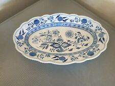 """Hutschenreuther """"Blue Onion"""" Oval Platter 12"""" by 7 5/8"""""""