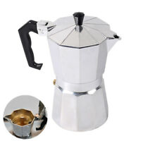 Coffee Maker Moka Espresso Coffeemake Machine Stainless Steel 1-Cup 3-Cup 12-Cup