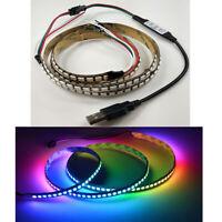 USB Controller + 5V WS2812B Smart RGB Led Strip 1M 144leds/5M 150leds/5M 300leds