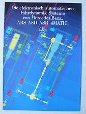 Prospekt Mercedes - Die elektronisch-automat. Fahrdynamik-Systeme, 6.1986, 10 S.