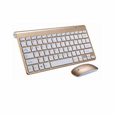 Ultra Thin Wireless 2.4G HZ Mini USB Keyboard and Mouse Kit For Mac Laptop PC