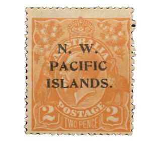"NEW GUINEA 1915  Provisional ""NW PACIFIC ISLANDS""  #44 MH Stamp"