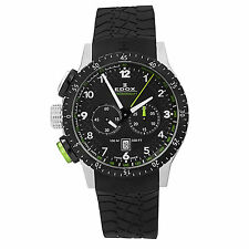 Edox Men's Chronorally 1 Swiss Chronograph Black Watch 10305 3NV NV MSRP $1450