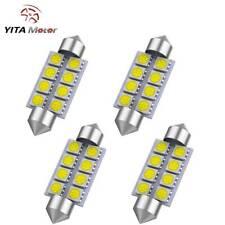 YITAMOTOR White 42MM 5050 8SMD Festoon License Interior LED Light bulb 212-2 569