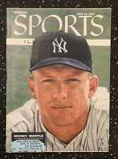 (4) Sport Magazines 1950-60s Mickey Mantle On Cover HOF