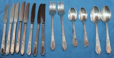 Vintage Manor Plate Triple Rosedale Pattern Silverware 32 Pieces Service For 8