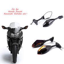MOTORCYCLE MIRRORS TURN SIGNAL LIGHT FOR KAWASAKI NINJA ZX6 / Suzuki Katana 600