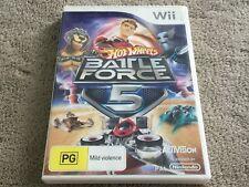 Hot Wheels: Battle Force 5 (Nintendo Wii, 2010) Complete