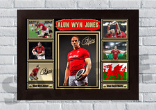 More details for alun wyn jones wales rugby legend a4/a3-unframed/framed autograph gift#47 signed