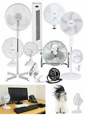 PEDESTAL OSCILLATING STAND FAN DESK USB CLIP ON WALL FANS STANDING HOME OFFICE