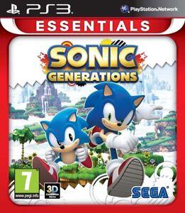 SONIC GENERATIONS ESSENTIALS PS3 VIDEOGIOCO PLAYSTATION 3 SEGA ITALIANO NUOVO
