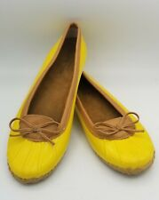 Women's Western Chief Yellow Rain Shoes Ballet Flats Size 10