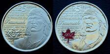 2 X 2012 CANADA BU 25-CENT TECUMSEH QUARTERS - COLORIZED & NON-COLORIZED