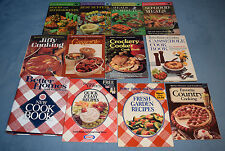 Vintage Lot of 12 Better Homes And Gardens Cookbooks HC SC New Cook Book Binder