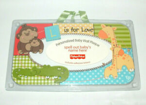 2011 Fisher-Price Luv U Zoo Personalized Baby Wall Plaque NEW SEALED