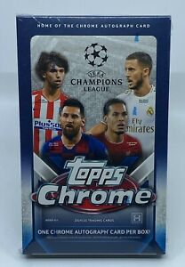 2019-20 Topps Chrome UEFA Champions League Soccer Sealed Hobby Box w/ 18 Packs