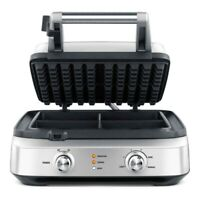 BREVILLE BWM604BSSUSC the Smart Waffle 4 Slice Waffle Maker 110 Volts