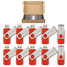 100x 4GB USB Flash Drive Anti-skid Swivel Memory Stick Thumb Pen Drive Wholesale
