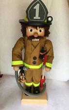 New with Tag Christian Ulbricht Ltd Ed NC Firefighter Nutcracker Handmade 0-433