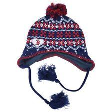 7c22830127e MLB Boston Red Sox Freda Women Ladies Tassel Knit Beanie Alpine Flaps Hat