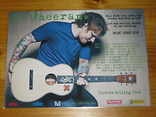 ED SHEERAN - 2015 Australian Tour - SIGNED AUTOGRAPHED  Poster