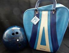 Vintage Columbia 300 White Dot 11lb Bowling Ball w Brunswick Wind-Jammer Bag