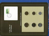 Coin Sets of All Nations Finland w/card 1981-1985 UNC 1 Markka 85 5 Markkaa 1981