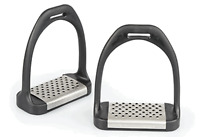 Shires Light Weight Plastic Cheese Grater Stirrup Irons with Metal Treads NEW
