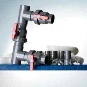 Kit by-pass riscaldatori raccordi per collegare pompa di calore filtro e piscina