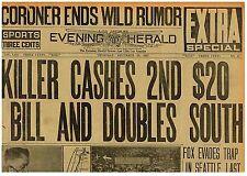 William Edward Hickman Fox Evades Trap in Seattle Killer seen  Dec 22 1927 B1