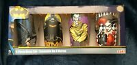NIB Rare DC Comics 4 /16 oz Glass Set By Zak BATMAN HARLEY QUINN, JOKER CATWOMAN