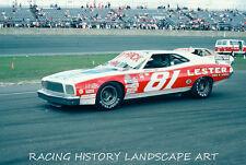 1975 DAYTONA 500 8x10 PHOTO WINSTON CUP #81 WARREN TOPE FORD NASCAR RACING CAR