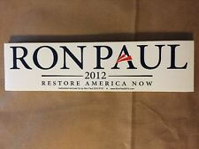 RON PAUL 2012 OFFICIAL WHITE BUMPER STICKER Decal Car Campaign For Liberty