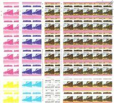 MR Big Bertha Lickey Banker Train Progressive Proof 50-Stamp Sheets x 8 (Imperf)