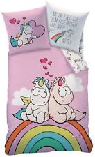 NICI Theodor & Amigos unicornio ropa de cama Amor 135/200+80/80 cm 100% Algodón