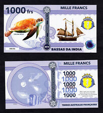 ★★★ BASSAS DA INDIA ● TAAF ● BILLET POLYMER 1000 FRANCS ★★★ COLONIE FRANCAISE