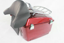 Velocity red sunglo Abs Motorcycle Tour Pack/Large Wrap Around Backrest/Top Rack